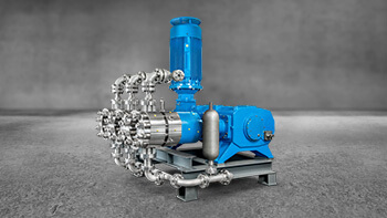 LEWA triplex high pressure pump for process engineering